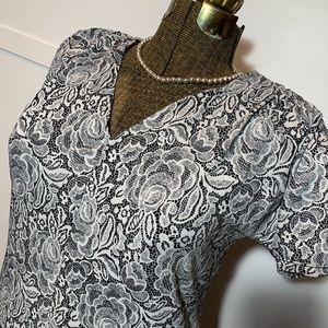 Anne Klein V-neck career tunic top L
